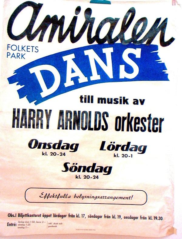 Affisch Amiralen Dans Harry Arnold